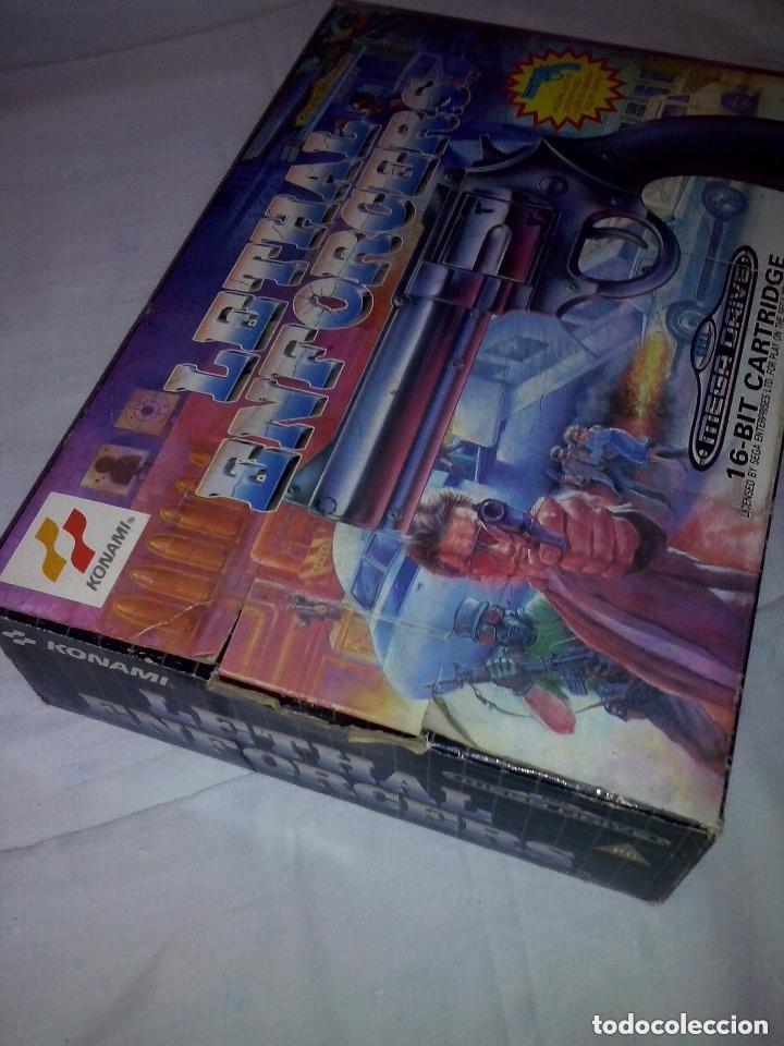 Videojuegos y Consolas: SEGA (JUEGO LETAL CON PISTOLA MEGADRIVE COMPLETO CON SU CAJA - Foto 11 - 94925587