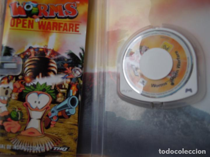 Videojuegos y Consolas: PSP , WORMS , OPEN WARFARE , CON INSTRUCCIONES - Foto 3 - 197820490