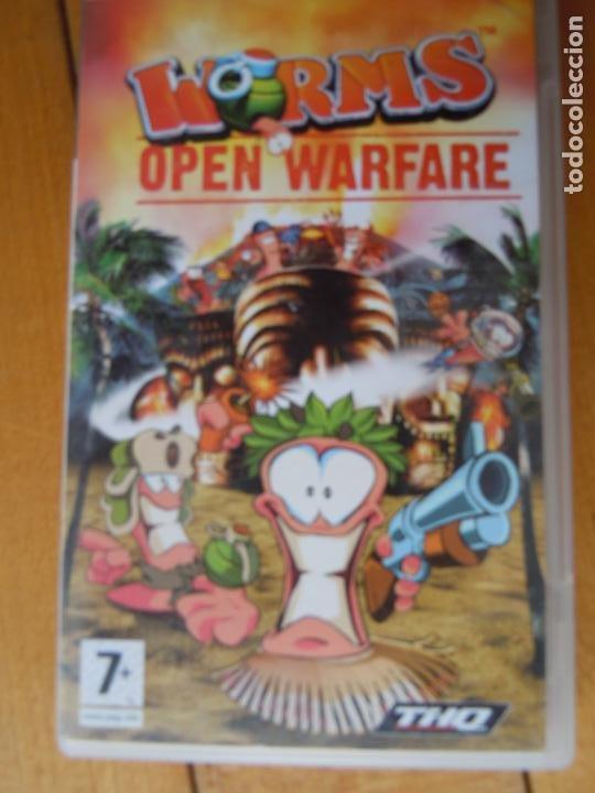 PSP , WORMS , OPEN WARFARE , CON INSTRUCCIONES (Juguetes - Videojuegos y Consolas - Sega - Sega 32x)