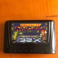 Videojuegos y Consolas: ANTIGUO JUEGO LLEGA MEGA DRIVE 32 X KNUCKLES CHAOTIX. Lote 245576950