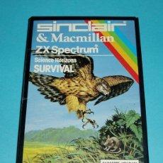 Videojuegos y Consolas: SCIENCE HORIZONS. SURVIVAL. ZX SPECTRUM. SINCLAIR & MACMILLAN. Lote 27138917
