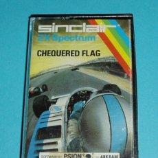 Videojuegos y Consolas: CHEQUERED FLAG. XZ SPECTRUM. SINCLAIR. Lote 27138922