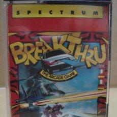 Videojuegos y Consolas: VIDEO JUEGO CASETE SPECTRUM - BREAKTHRU - ERBE 1986 . Lote 26166703