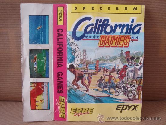 VIDEO JUEGO CASETE SPECTRUM - CALIFORNIA GAMES - ERBE 1987 - INSTRUCCIONES (Juguetes - Videojuegos y Consolas - Spectrum)