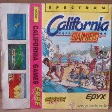 Videojuegos y Consolas: VIDEO JUEGO CASETE SPECTRUM - CALIFORNIA GAMES - ERBE 1987 - INSTRUCCIONES . Lote 26319494