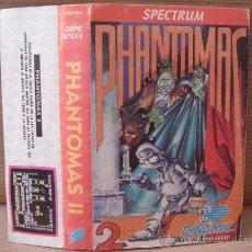 Videojuegos y Consolas: VIDEO JUEGO CASETE SPECTRUM - PHANTOMAS II DINAMIC 1986 - INSTRUCCIONES . Lote 26487924