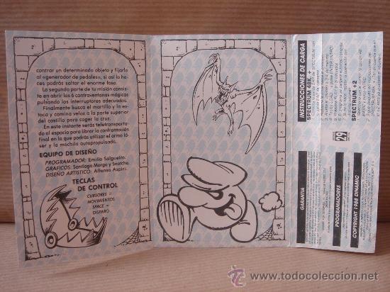 Videojuegos y Consolas: VIDEO JUEGO CASETE SPECTRUM - PHANTOMAS II DINAMIC 1986 - INSTRUCCIONES - Foto 2 - 26487924