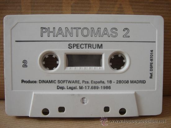 Videojuegos y Consolas: VIDEO JUEGO CASETE SPECTRUM - PHANTOMAS II DINAMIC 1986 - INSTRUCCIONES - Foto 3 - 26487924