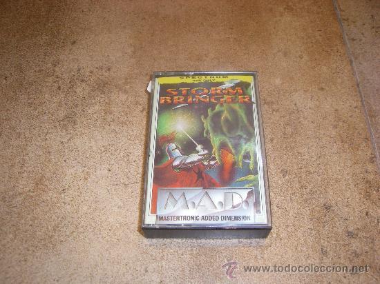 JUEGO CASSETTE MSX STORM BRINGER M.A.D. MASTERTRONIC ADDED DIMENSION. 1987 (Juguetes - Videojuegos y Consolas - Spectrum)