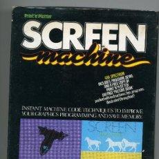 Videojuegos y Consolas: SCREEN MACHINE - VIDEOJUEGO PARA 48K SPECTRUM CON INSTRUCCIONES. Lote 31098494