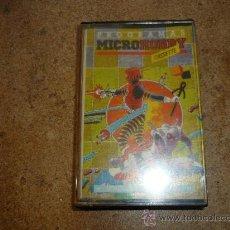 Videojuegos y Consolas: JUEGO CASSETE MICROHOBBY SPECTRUM AÑO 1 NUM 1. Lote 36093740