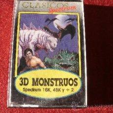 Videojuegos y Consolas: JUEGO SPECTRUM - 3D MONSTRUOS , EN SU CAJA. Lote 38627298