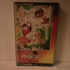 Videojuegos y Consolas: JUEGO SPECTRUM THEE WEEKS IN PARADISE. CARATULA NO ORIGINAL. Lote 40707374