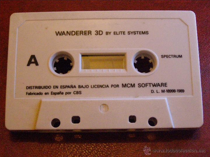 JUEGO ZX SPECTRUM Y COMPATIBLES - WANDERER 3D- BY ELITE SYSTEMS - MCM SOFTWARE - CBS - 1989 (Juguetes - Videojuegos y Consolas - Spectrum)