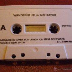 Videojuegos y Consolas: JUEGO ZX SPECTRUM Y COMPATIBLES - WANDERER 3D- BY ELITE SYSTEMS - MCM SOFTWARE - CBS - 1989. Lote 41477335