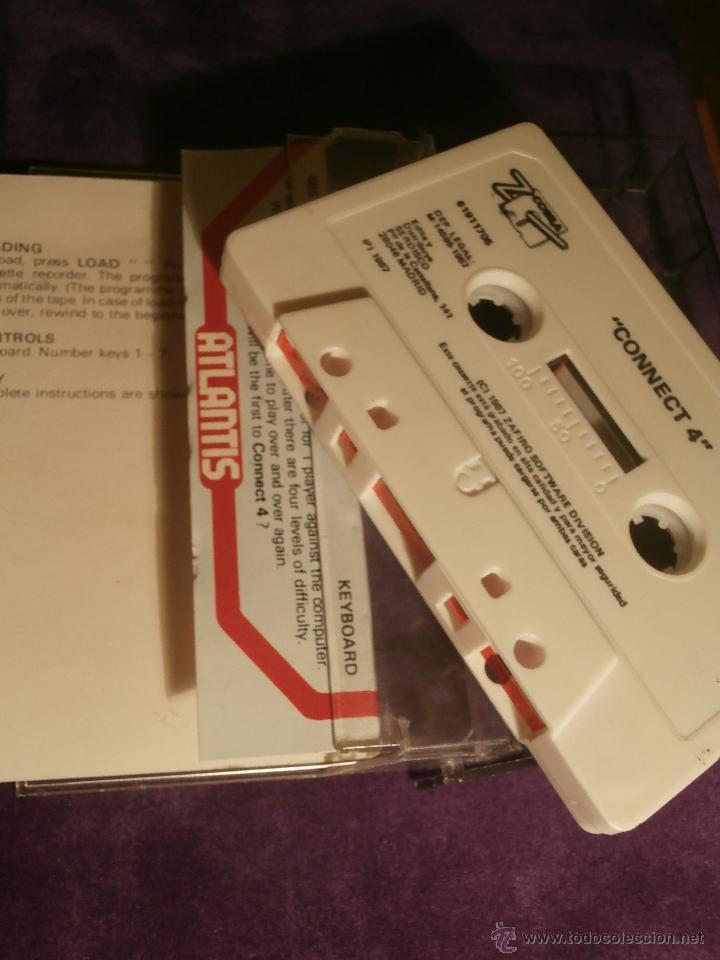 Videojuegos y Consolas: Connect 4 - Atlantis - 1987 Zafiro Sotware Division - Juego 48k Spectrum - - Foto 2 - 43386679