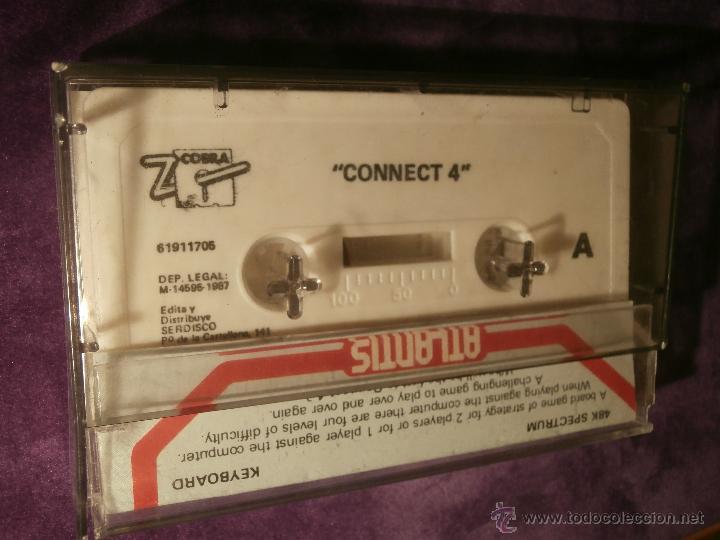 Videojuegos y Consolas: Connect 4 - Atlantis - 1987 Zafiro Sotware Division - Juego 48k Spectrum - - Foto 4 - 43386679