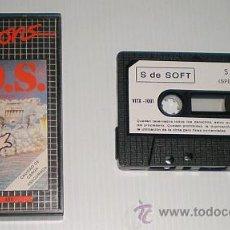 Videojuegos y Consolas: S.O.S. [VISIONS SOFT FACTORY] [S DE SOFT] [1984] [ZX SPECTRUM]. Lote 45096565