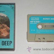 Videojuegos y Consolas: BORER DEEP [GRUPO DE TRABAJO SOFTWARE S.A] 1985 SOFTWARE MAGAZINE 3B [ZX SPECTRUM]. Lote 45098336