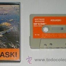 Videojuegos y Consolas: AGUASKI (AQUASKI AQUAPLANE) QUICKSILVA [SOFTWARE MAGAZINE] NUM 5A 1985 [ZX SPECTRUM]. Lote 45098616