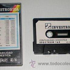 Videojuegos y Consolas: CONTABILIDAD DOMESTICA [INVESTRONICA SA] 1984 [ZX SPECTRUM]. Lote 45098739