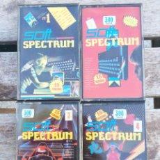 Videojuegos y Consolas: COLECCION DE 4 CINTAS DE LA REVISTA SOFT SPECTRUM - SOFTWARE PROGRAMAS PARA SPECTRUM SINCLAIR . Lote 46161202