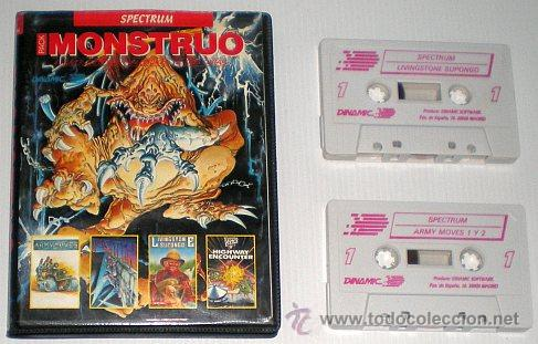 Videojuegos y Consolas: Monstruo Pack [Dinamic] [1987] [ZX Spectrum] Army Moves,Dustin,Livingstone Supongo,Highway Encounter - Foto 4 - 47026214