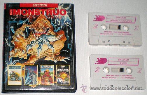 Videojuegos y Consolas: Monstruo Pack [Dinamic] [1987] [ZX Spectrum] Army Moves,Dustin,Livingstone Supongo,Highway Encounter - Foto 5 - 47026214
