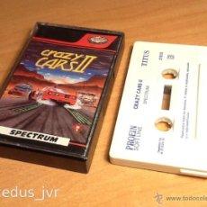 Videojuegos y Consolas: CRAZY CARS II 2 JUEGO PARA SINCLAIR ZX SPECTRUM CASETE CASSETTE COMPLETO VERSIÓN ESPAÑOLA. Lote 47954969