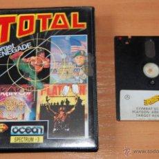 Videojuegos y Consolas: JUEGO ORDENADOR PC TOTAL 4 JUEGOS SPECTRUM +3. Lote 48402600