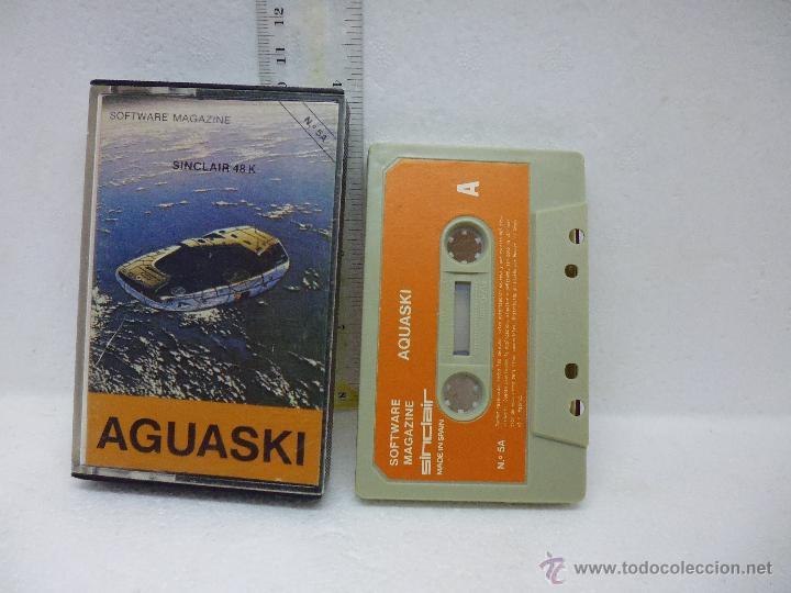AGUASKI-SOFTWARE MAGAZINE -SINCLAIR-MADE IN SPAIN (Juguetes - Videojuegos y Consolas - Spectrum)