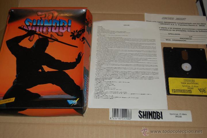 JUEGO ORDENADOR PC SHINOBI SPECTRUM +3 (Juguetes - Videojuegos y Consolas - Spectrum)