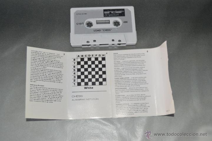 Videojuegos y Consolas: juego cinta cassette load chess spectrum - Foto 2 - 48993764
