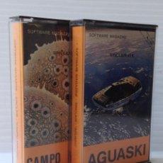 Videojuegos y Consolas: SINCLAIR. JUEGOS SOFTWARE MAGAZINE. AGUASKI / CAMPO MINADO.. Lote 49207504