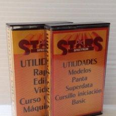 Videojuegos y Consolas: SPECTRUM. UTILIDADES. STARS. 2 CASSETTES. . Lote 49222264
