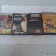 Videojuegos y Consolas: JJ.JUEGO LOTE 4 JUEGOS CASSETTE SPETRUM JUEGO SINCLAIR ( CINTA CASETE ). Lote 49926200