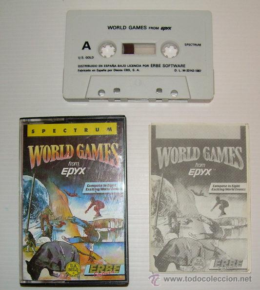 Videojuegos y Consolas: World Games [US Gold / Epyx] 1987 - Choice / Erbe Software [Zx Spectrum] - Foto 2 - 39825674