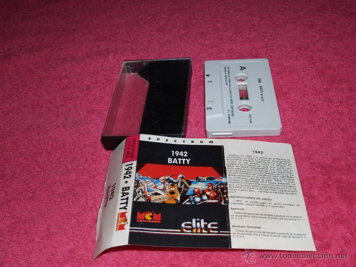GAME FOR SPECTRUM ELITE 1942 BATTY SPANISH VERSION BY MCM 1989 (Juguetes - Videojuegos y Consolas - Spectrum)