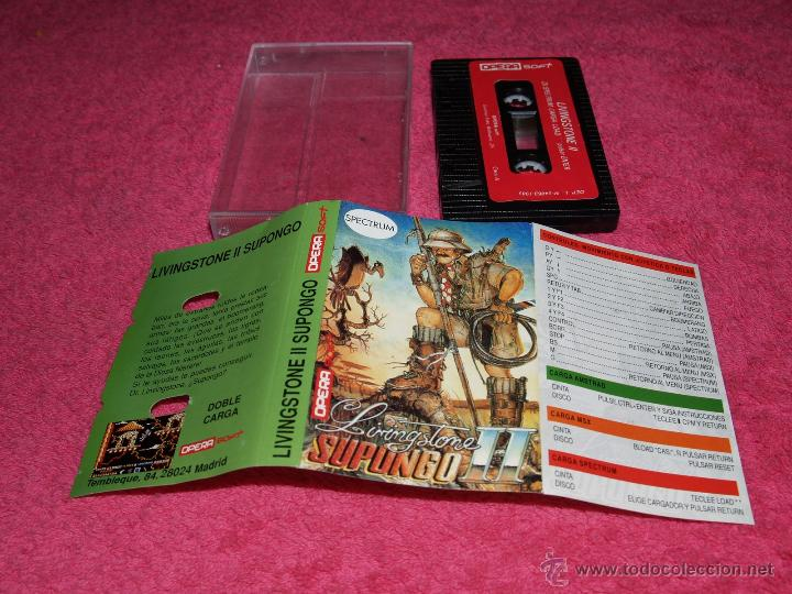 GAME SPECTRUM OPERA SOFT LIVINGSTONE SUPONGO II SPANISH VERSION 1989 (Juguetes - Videojuegos y Consolas - Spectrum)