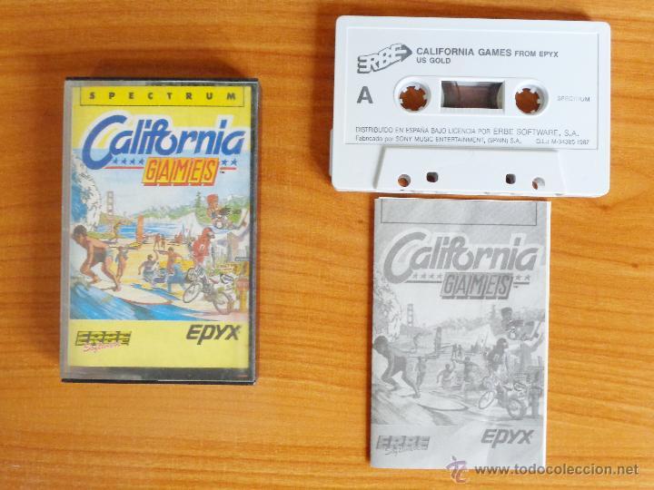 JUEGO SPECTRUM 'CALIFORNIA GAMES'. (Juguetes - Videojuegos y Consolas - Spectrum)