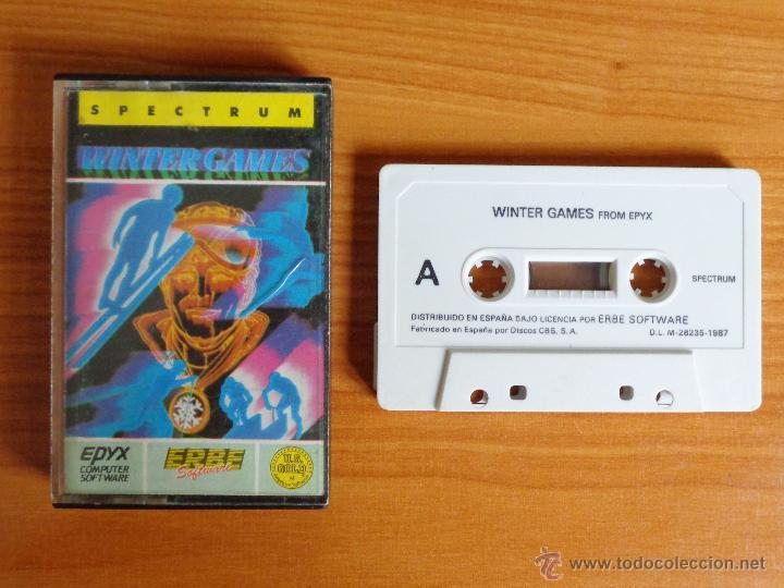 JUEGO SPECTRUM 'WINTER GAMES'. (Juguetes - Videojuegos y Consolas - Spectrum)