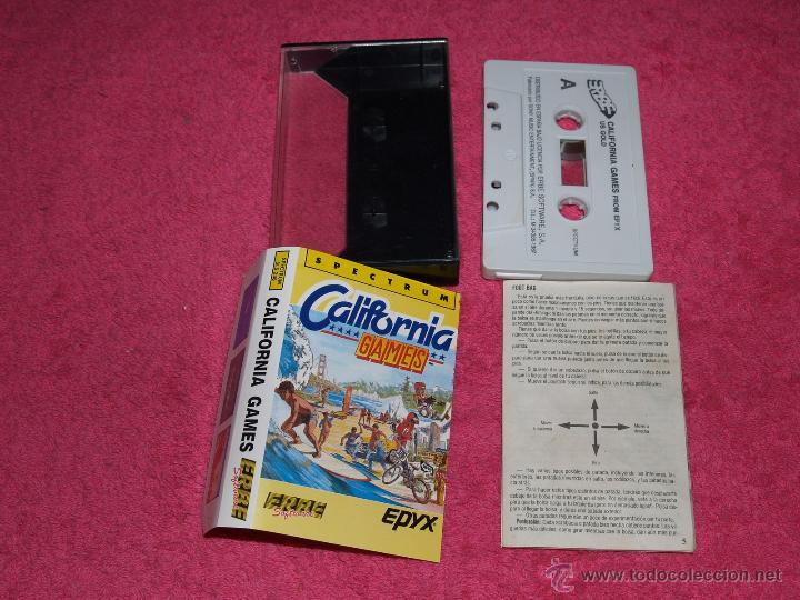 JUEGO PARA SPECTRUM ERBE CALIFORNIA GAMES BY EPIX 1987 (Juguetes - Videojuegos y Consolas - Spectrum)