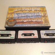 Videojuegos y Consolas: GOLD SILVER BRONZE SPECTRUM/3 JUEGOS DEPORTIVOS PARA ORDENADOR SPECTRUM. Lote 52952659