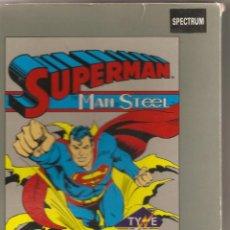 Videojuegos y Consolas: SUPERMAN. THE MAN STEEL. JUEGO DE SPECTRUM. Lote 55009937