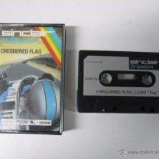Videojuegos y Consolas: CHEQUERED FLAG / SINCLAIR ZX SPECTRUM / CASSETTE / RETRO. Lote 55011381