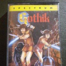 Videojuegos y Consolas: JUEGO ZX SPECTRUM Y COMPATIBLES - GOTHIK BY FIREBIRD - MCM SOFTWARE -1989 -. Lote 55891957