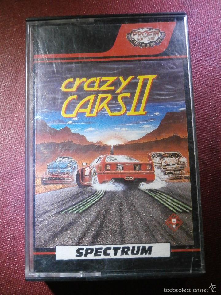 JUEGO ZX SPECTRUM Y COMPATIBLES - CRAZY CARS II - PROEIN SOFTLINE -1989 - (Juguetes - Videojuegos y Consolas - Spectrum)