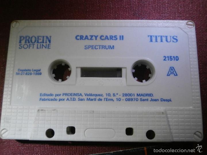 Videojuegos y Consolas: JUEGO ZX SPECTRUM Y COMPATIBLES - CRAZY CARS II - Proein Softline -1989 - - Foto 3 - 56131918
