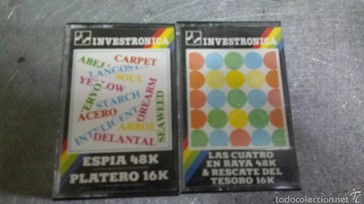 LOTE 2 JUEGOS SPECTRUM ZX (Juguetes - Videojuegos y Consolas - Spectrum)