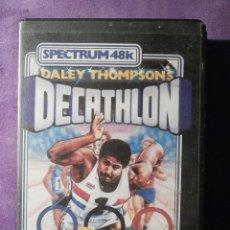 Videojuegos y Consolas: JUEGO ZX SPECTRUM Y COMPATIBLES - 48K - DECATHLON - DALEY THOMPSON´S - OCEAN - 1984 -. Lote 61645744